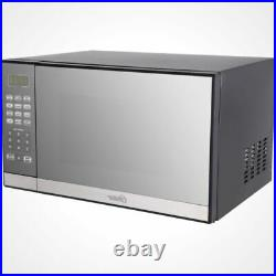 Portable Microwave Oven Grill 1.3-cu. Ft. 1000W Stainless Steel Mirror Finish
