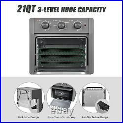 Pro 21 QT 5-IN-1 Air Fryer Toaster Oven Countertop Convection Oven Gray USA