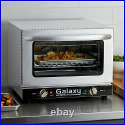 Quarter Size Countertop Convection Oven Cool Touch Dual Pane Glass Door 120 Volt