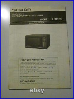 SHARP CAROUSEL II CONVECTION MICROWAVE OVEN MODEL 930AW-P Local Pick Up Only