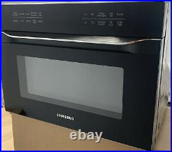 Samsung 1.2 Cu. Ft. Black Stainless Steel Microwave Convection MC12J8035CT