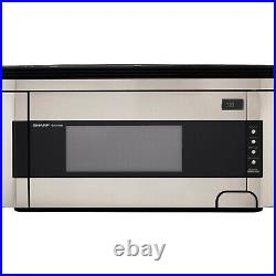 Sharp 1.5 Cu. Ft. 1000W Over-the-Range Microwave Oven with Concealed Control Pan