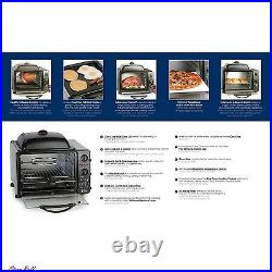 Toaster Oven With Rotisserie & Grill Griddle 23 Liter Kitchen Appliances Black NEW