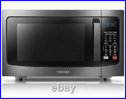 Toshiba EC042A5C-BS microwave oven, 1.5Cu. Ft, Black Stainless Steel