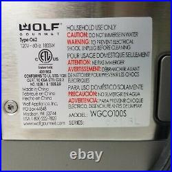 WOLF Gourmet Convection Toaster Oven Countertop WGCO100S Unused Please Read
