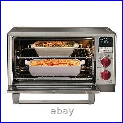 Wolf Elite Countertop Oven with Convection Red Knobs