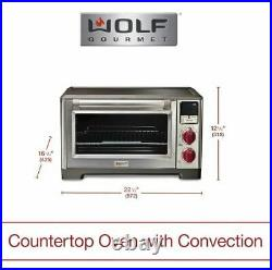 Wolf Gourmet Countertop Oven Elite, Red Knob