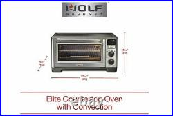 Wolf Gourmet Elite Digital Countertop Convection Oven withTemp Probe (WGCO160S)