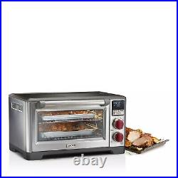 Wolf Gourmet Elite Digital Countertop Convection Toaster Oven Stainless & Black