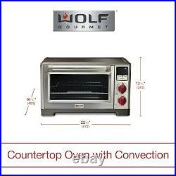 Wolf Gourmet Elite Digital Countertop Convection Toaster Oven WGCO150S, NIB