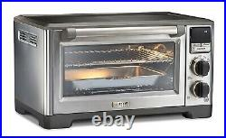 Wolf Gourmet WGCO170SR Elite Countertop Oven Stainless Steel and Black Knobs